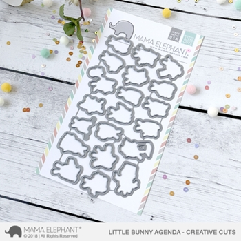 Mama Elephant LITTLE BUNNY AGENDA Creative Cuts Steel Dies