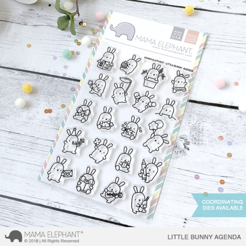 Mama Elephant Clear Stamp LITTLE BUNNY AGENDA Preview Image