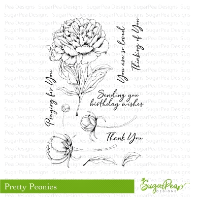 SugarPea Designs PRETTY PEONIES Clear Stamp Set spd-00262 Preview Image