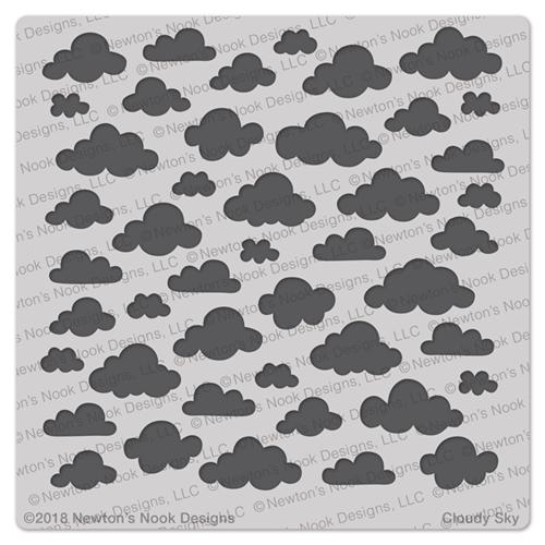 Newton's Nook Designs CLOUDY SKY Stencil NN1802T01 Preview Image
