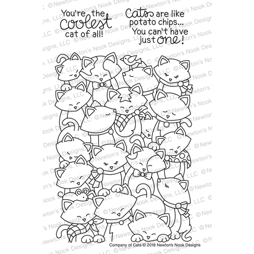 Newton's Nook Designs COMPANY OF CATS Clear Stamp Set NN1802S03 Preview Image
