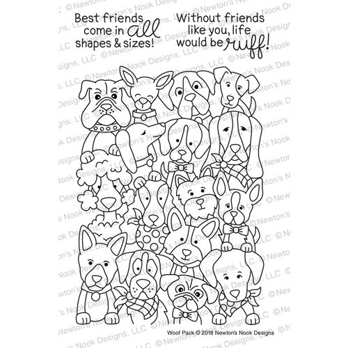 Newton's Nook Designs WOOF PACK Clear Stamp Set NN1802S04 Preview Image