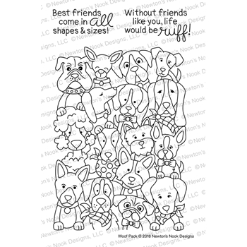 Newton's Nook Designs WOOF PACK Clear Stamp Set NN1802S04