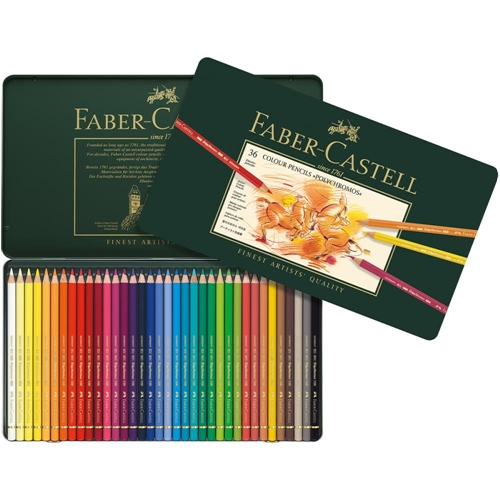 Faber-Castell POLYCHROMOS COLORED PENCILS 36 Piece Set in Tin 110036 Preview Image