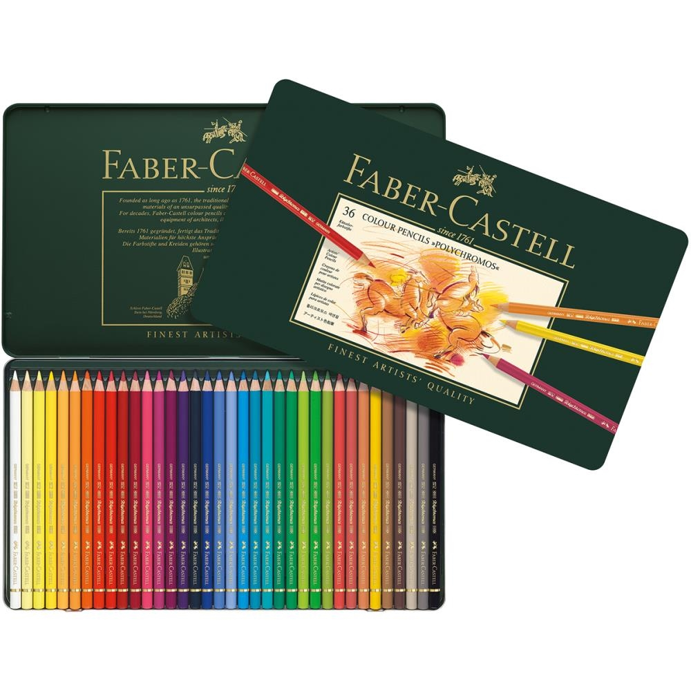 Faber-Castell POLYCHROMOS COLORED PENCILS 36 Piece Set in Tin 110036 zoom image