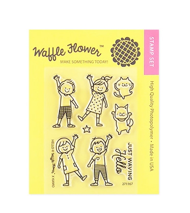 Waffle Flower HELLO Clear Stamp Set 271167 Preview Image