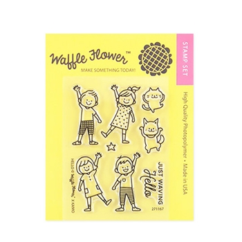 Waffle Flower HELLO Clear Stamp Set 271167