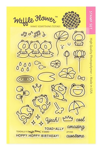 Waffle Flower TOADALLY Clear Stamp Set 271163* zoom image