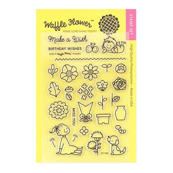Waffle Flower WISH Clear Stamp Set 271162*