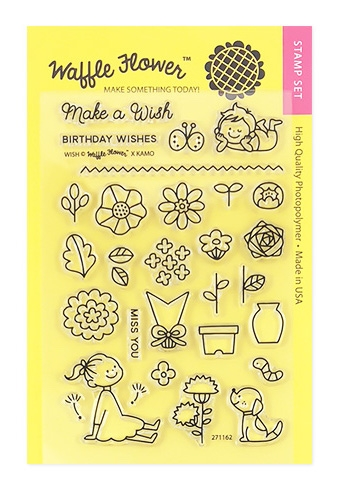 Waffle Flower WISH Clear Stamp Set 271162* zoom image