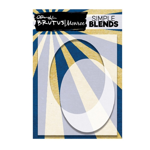 Brutus Monroe SIMPLE BLEND OVAL Stencil and Mask bru4608 Preview Image