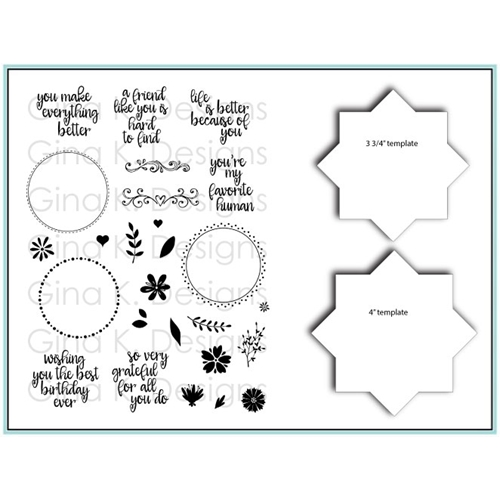Gina K Designs WREATH BUILDER Clear Stamps and Stencil Bundle 5485 Preview Image