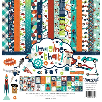 Echo Park IMAGINE THAT BOY 12 x 12 Collection Kit itb147016
