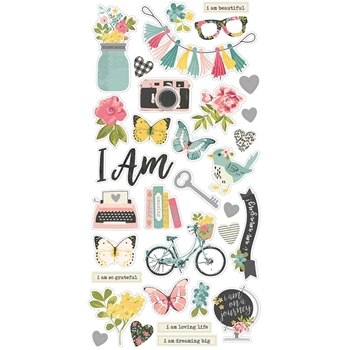 Simple Stories I AM 6 x 12 Chipboard Stickers 10039*