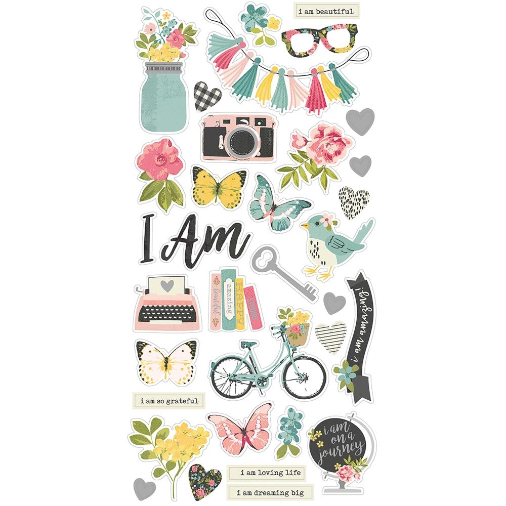 Simple Stories I AM 6 x 12 Chipboard Stickers 10039 zoom image