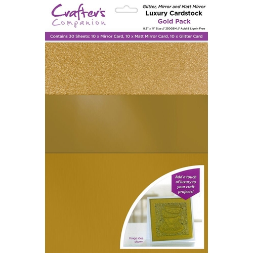 Crafter's Companion GOLD Luxury Cardstock Pack cp-lmix-gold811 Preview Image