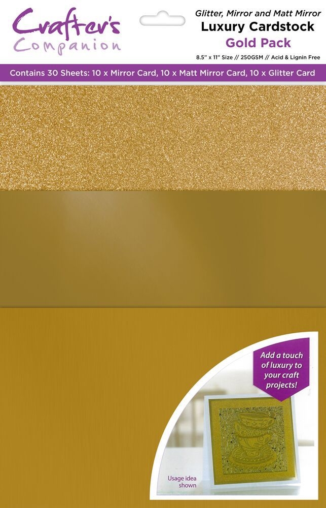 Crafter's Companion GOLD Luxury Cardstock Pack cp-lmix-gold811 zoom image