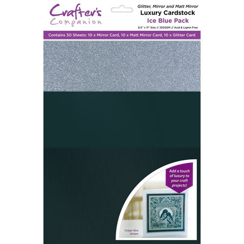 Crafter's Companion ICE BLUE Luxury Cardstock Pack cp-lmix-iceb811 Preview Image