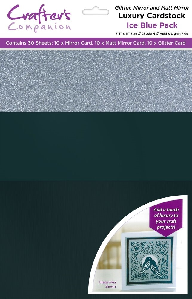 Crafter's Companion ICE BLUE Luxury Cardstock Pack cp-lmix-iceb811 zoom image