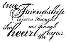 Tim Holtz Rubber Stamp TRUE FRIENDSHIP K5-1154 Stampers Anonymous Preview Image