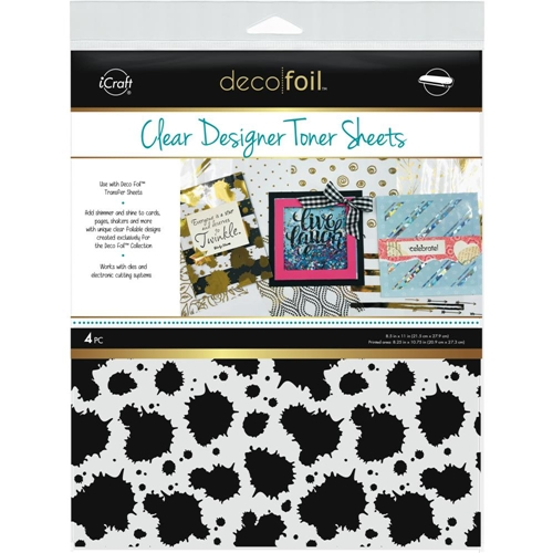 Therm O Web SPLATTER Clear Deco Foil Designer Toner Sheets 5512 Preview Image