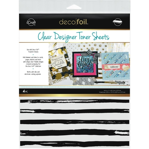 Therm O Web DISTRESSED LINES Clear Deco Foil Toner Sheets 5515 Preview Image