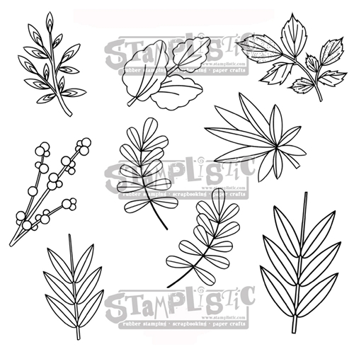 Stamplistic Cling Stamp LEAFY 1 r180103* Preview Image
