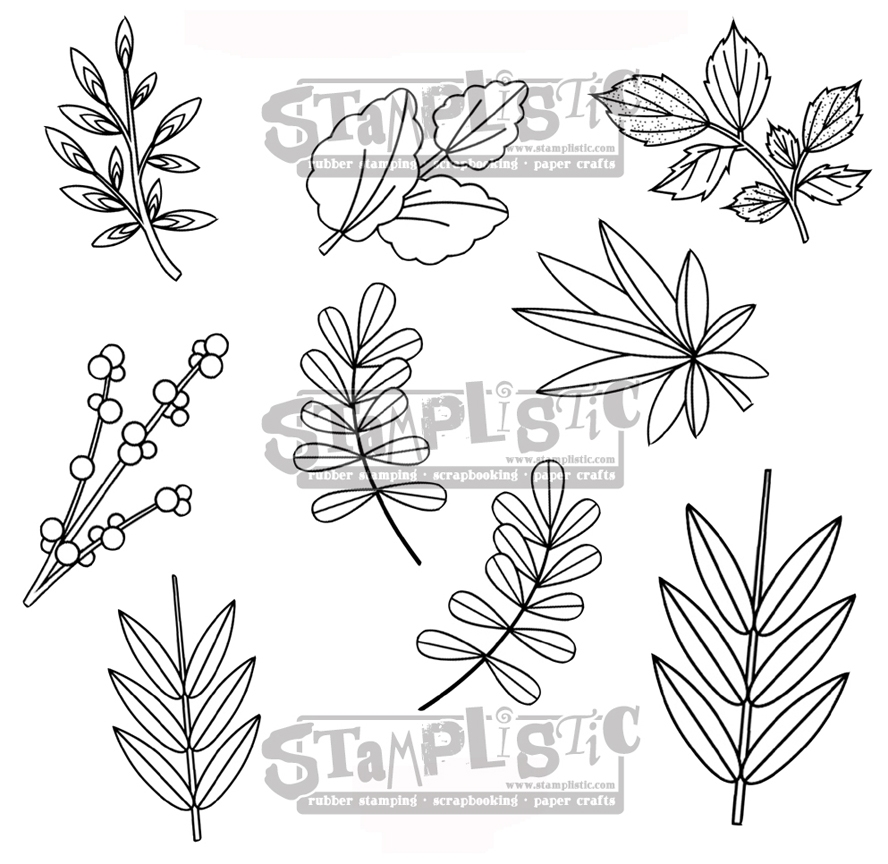 Stamplistic Cling Stamp LEAFY 1 r180103* zoom image