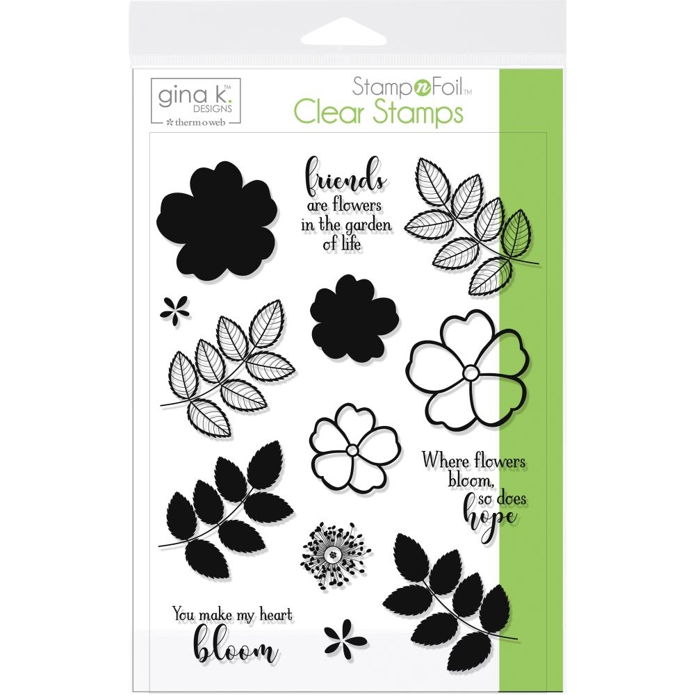 Therm O Web Gina K Designs WHERE FLOWERS BLOOM Clear Stamp Set 18080 zoom image