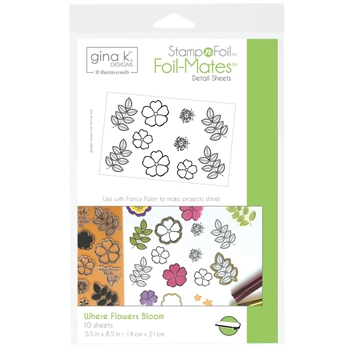 Therm O Web Gina K Designs WHERE FLOWERS BLOOM Foil-Mates Sheets 18077*