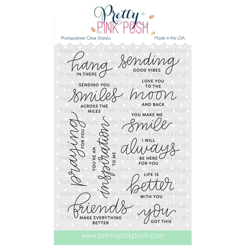 Pretty Pink Posh ENCOURAGING GREETINGS Clear Stamp Set  Preview Image