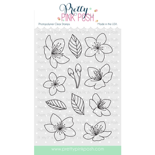 Pretty Pink Posh CHERRY BLOSSOMS Clear Stamp Set Preview Image