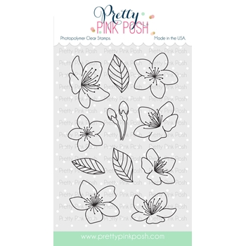Pretty Pink Posh CHERRY BLOSSOMS Clear Stamp Set