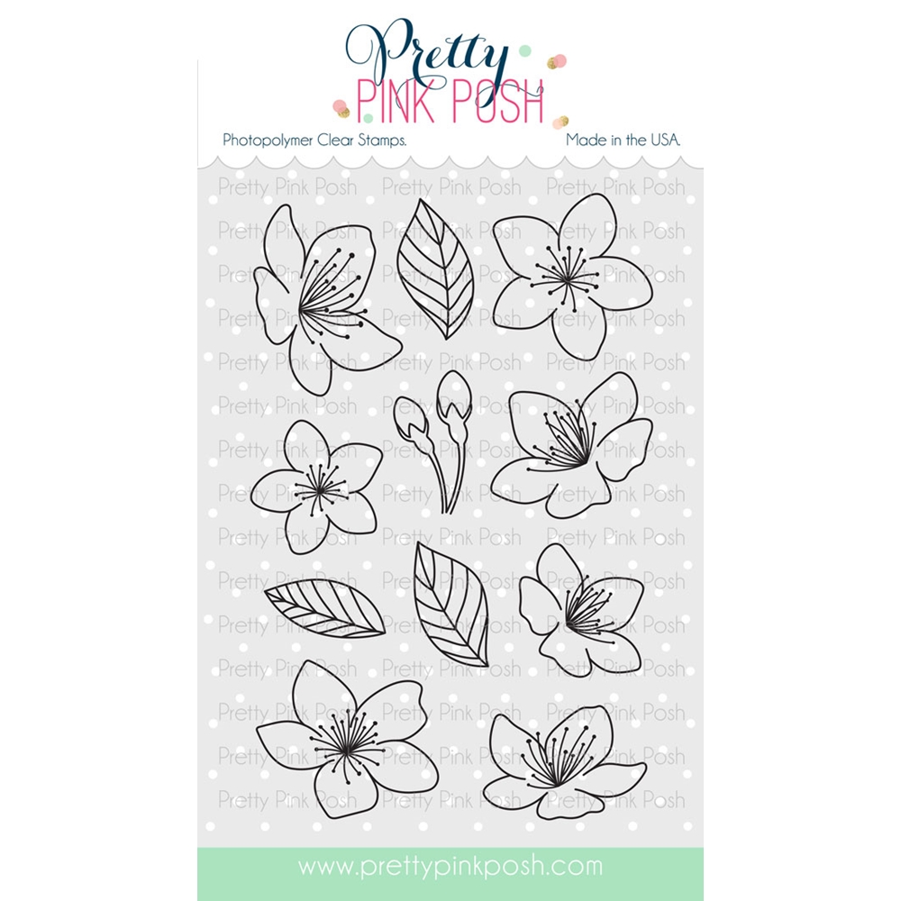 Pretty Pink Posh CHERRY BLOSSOMS Clear Stamp Set zoom image