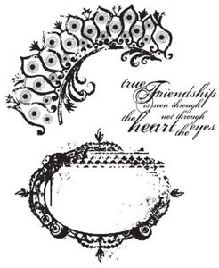 Tim Holtz Cling Rubber Stamps TATTERED ELEMENTS CMS018 Preview Image
