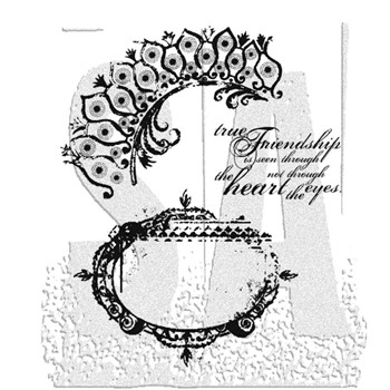 Tim Holtz Cling Rubber Stamps TATTERED ELEMENTS CMS018