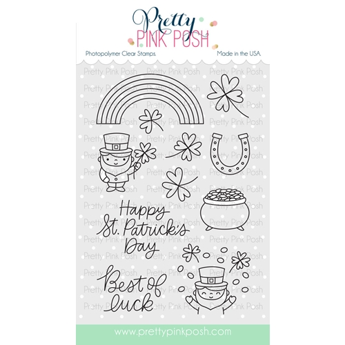 Pretty Pink Posh BEST OF LUCK Clear Stamp Set  Preview Image