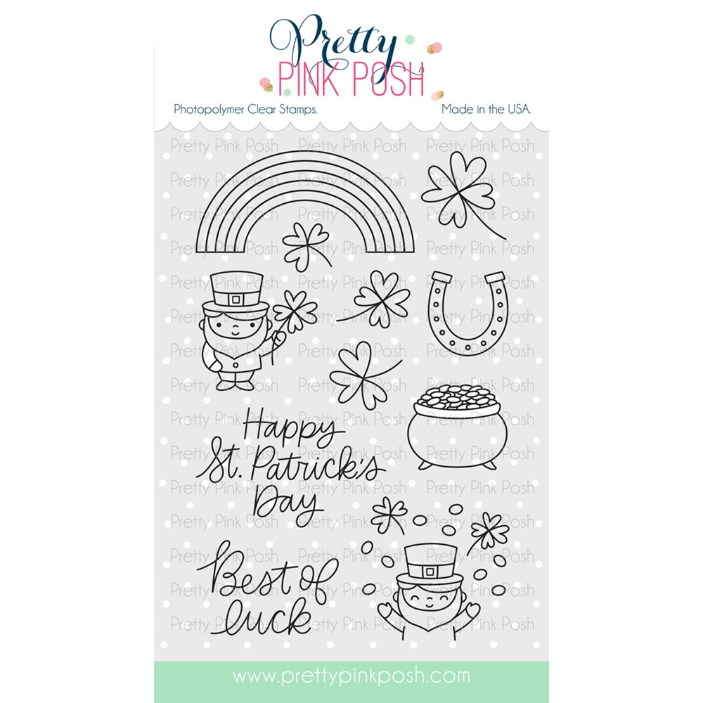 Pretty Pink Posh BEST OF LUCK Clear Stamp Set  zoom image