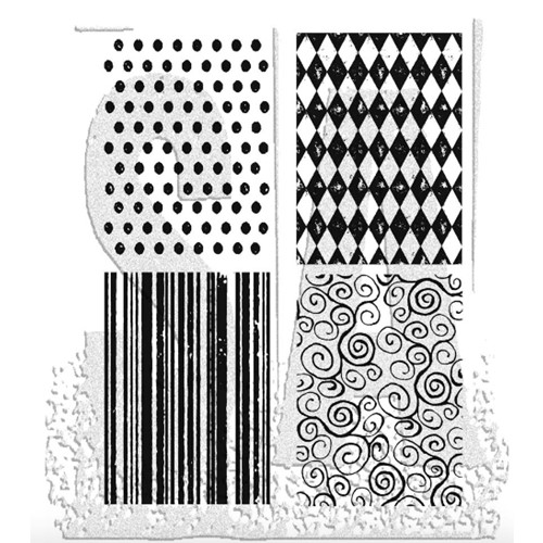 Tim Holtz Cling Rubber Stamps TINY TEXTURES Background CMS042 Preview Image