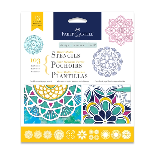 Faber-Castell MIXED MEDIA STENCILS MANDALA 770610 Preview Image