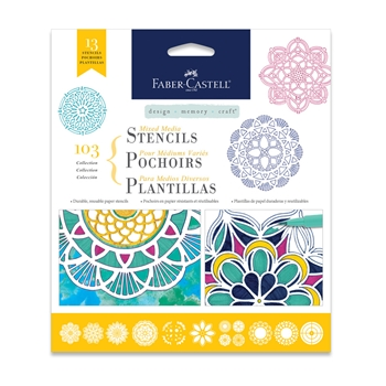 Faber-Castell MIXED MEDIA STENCILS MANDALA 770610