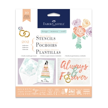 Faber-Castell MIXED MEDIA STENCILS WEDDINGS 770609*
