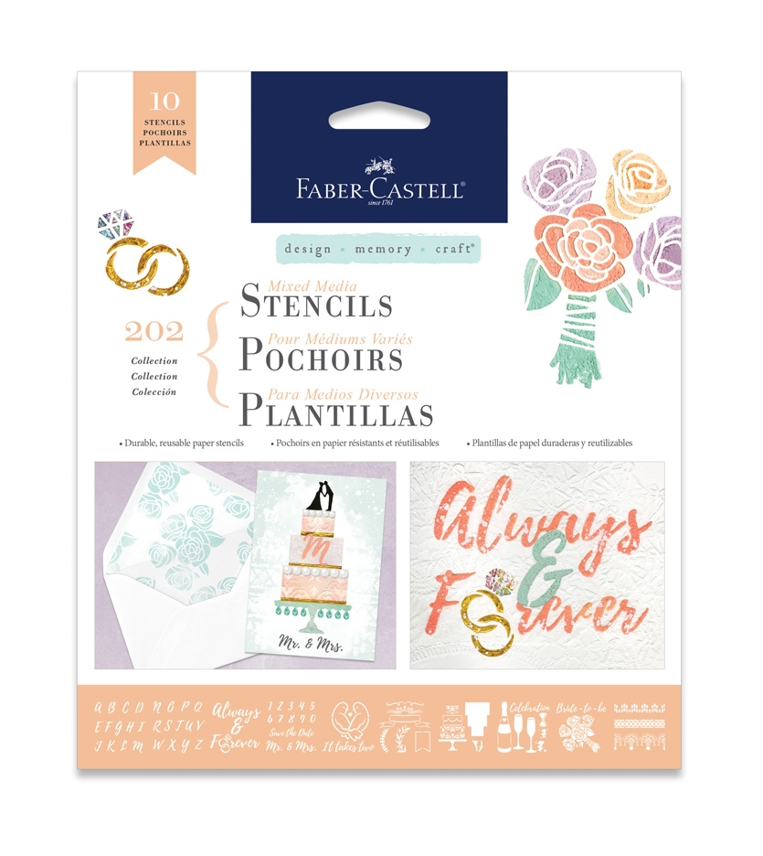 Faber-Castell MIXED MEDIA STENCILS WEDDINGS 770609* zoom image