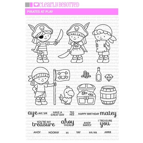 Clearly Besotted PIRATES AT PLAY Clear Stamp Set Preview Image