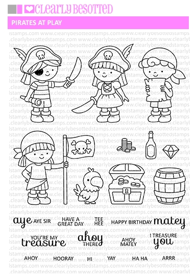 Clearly Besotted PIRATES AT PLAY Clear Stamp Set zoom image