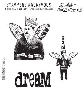 Tim Holtz Cling Rubber Stamps WINGED THINGS 2 Two CMS025* Preview Image