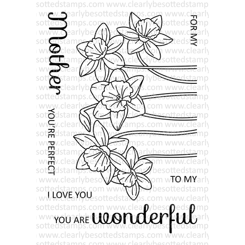 Clearly Besotted SPRING DAFFODILS Clear Stamp Set Preview Image