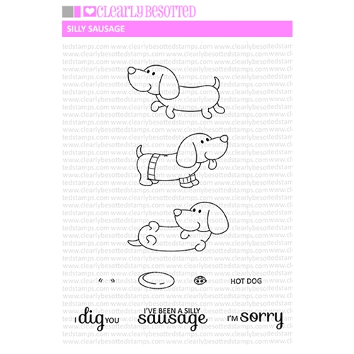Clearly Besotted SILLY SAUSAGE Clear Stamp Set Preview Image