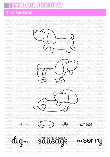 Clearly Besotted SILLY SAUSAGE Clear Stamp Set zoom image