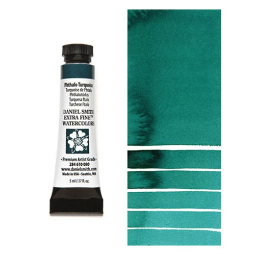 Daniel Smith PHTHALO TURQUOISE 5ML Extra Fine Watercolor 284610080 Preview Image